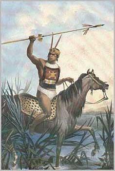 Parece ese guerrero mas un genoa o un Arachan que Charrua