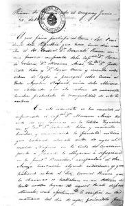 188-FOJA 1-CARTA DE NAVAJAS