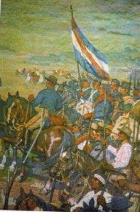 Artigas y sus hombres prontos para la Batalla.