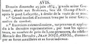 (Es copia exacta del anuncio que se colocó en las paredes de Lyon en 1834)