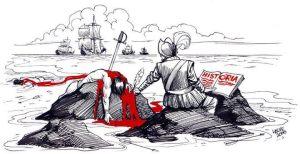 """""""...Hallá se inventa la historia y acá se escribe con sangre..."""" León Gieco"""